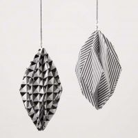 Diamond-shaped Baubles made from Design Paper (the Paris Series)