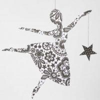 A Paris Design Paper Ballerina with a Star