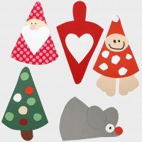 Decorazioni di Natale - Figure fatte con cartamodello multiuso