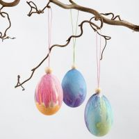 Natural Eggs painted with Watercolours