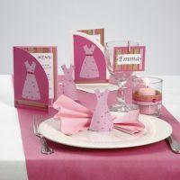 Serie di cartoline con strass e vestito di carta decorativo