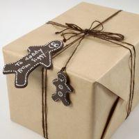 A Silk Clay Gingerbread Man as a Gift Tag