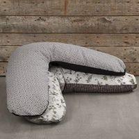 A Nursing Pillow made from Organic Vivi Gade Design Fabric