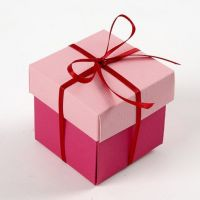 A Folding Box in two Colours with a Satin Ribbon