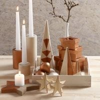Copper-painted Candle Holders, Candlesticks & Home Interior