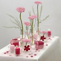 Decorazioni per la tavola bianche e rosate Happy Moments
