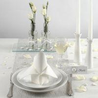 Decorazioni per la tavola bianche