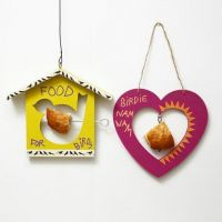 Decorated wooden Bird Feeding hanging Decorations