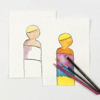 Esercitarsi con le matite acquerellabili