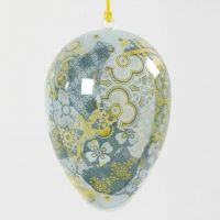 A transparent Egg with Decoupage on the Inside
