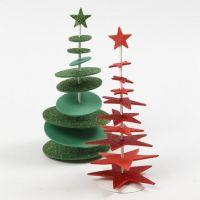 Albero di Natale fustellato in gomma EVA, con barra interna e supporto