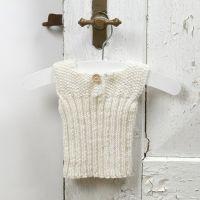 13936 Lavorare a maglia per i bimbi - un vestito in filo baby di lana merino soffice