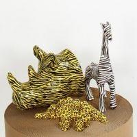 Animali di cartapesta con découpage