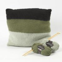 A knitted and felted Cushion from soft Melbourne Wool