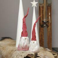 Elfi di stoffa in cotone con barba di seta grezza