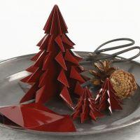 Albero di Natale in carta origami brillante