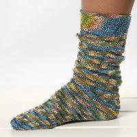 Calze a maglia con motivo a spirale