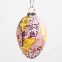 Uovo con decoupage in armonia rosa