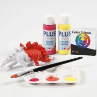 Dinosaurs painted with Primary Colours