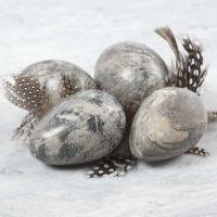 Uova effetto marmorizzato in argilla e Idea Mix