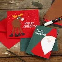 Biglietto d'auguri con fantasie natalizie in cartoncino