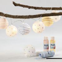 Lucine fatate con lanterne in carta di riso