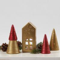 Decorazioni natalizie di terracotta colorate con pittura Art Metal