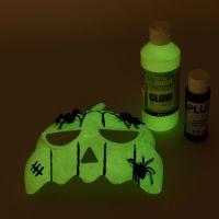 Maschera colorata con pittura luminescente