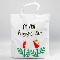 Shopping Bag decorata con fantasie ritagliate da carta trasferibile