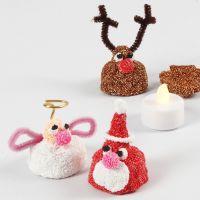 Piccola figura natalizia in Foam Clay con portalumino LED all'interno