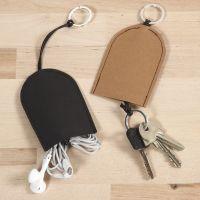 Custodia per chiavi e auricolari di carta in finta pelle