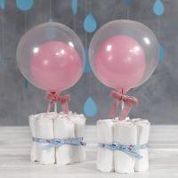Decorazioni da tavola con pannolini per Baby Shower