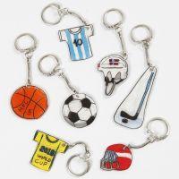 Portachiavi in plastica termorestringibile a tema sportivo