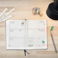 Un Bullet Journal usato come diario
