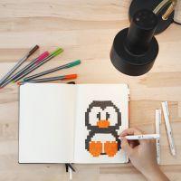 Pixel Art in un Bullet Journal