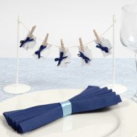 Decorazioni da tavola con pannolini per un battesimo