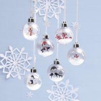 Palline di Natale con disegni di animali polari come decoro interno