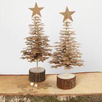 Alberi di Natale di forme in carta di finta pelle fustellata