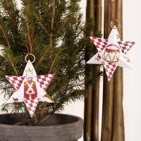 Stella di Natale in carta fantasia con motivi dello Schiaccianoci