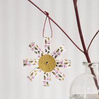 Decorazione pendente di strisce di carta per stelle e carta glitter