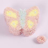 Scatola a forma di farfalla decorata con Pearl Clay