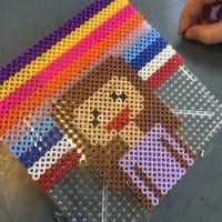 Pixel Art con le perle tubolari Nabbi