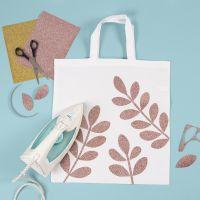 Shopping Bag con foglie in pellicola stirabile