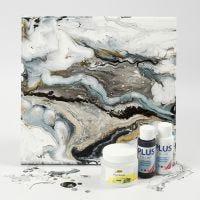 Fluid Art su tela con vernice Craft Paint e Pouring-Fluid