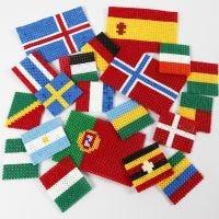 Le bandiere del mondo con perline Nabbi