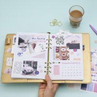 Panoramica mensile in un Bullet journal e un planner