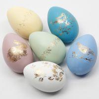 Uova di Pasqua decorate con pellicola decorativa su lamina adesiva fantasia