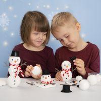 Costruisci un pupazzo di neve con polistirolo e Foam Clay