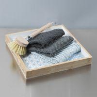 Semplici strofinacci realizzati a maglia