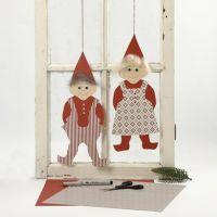 Elfi di cartoncino con vestiti di carta Vivi Gade Design